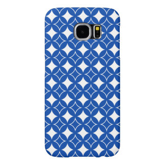 Blue and white shippo pattern samsung galaxy s6 cases