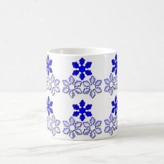 Blue and white Snowflakes Mug