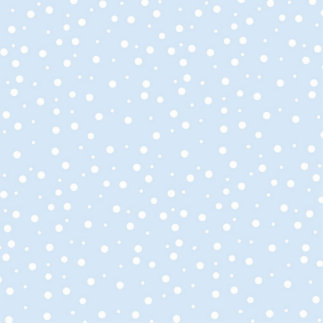 Blue and White Snowy Background Photo Cut Outs
