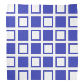Blue and White Squares Bandana