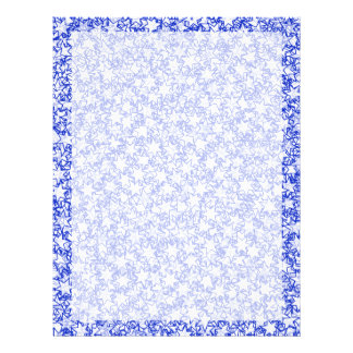Blue and White Stars Team Spirit Sports Colors 21.5 Cm X 28 Cm Flyer