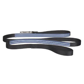 Blue and White Stripe Dog Lead