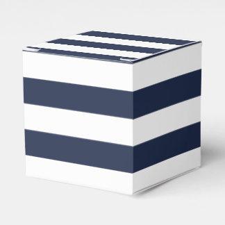 Blue And White Stripe Nautical Wedding Party Favor Favour Box