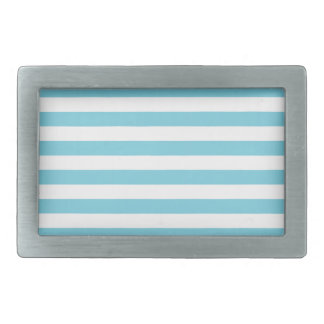 Blue and White Stripe Pattern Belt Buckles