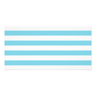 Blue and White Stripe Pattern Card