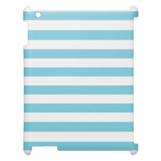 Blue and White Stripe Pattern Case For The iPad