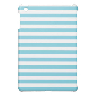 Blue and White Stripe Pattern Cover For The iPad Mini