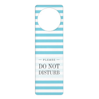 Blue and White Stripe Pattern Door Hanger