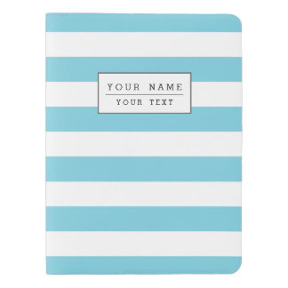 Blue and White Stripe Pattern Extra Large Moleskine Notebook