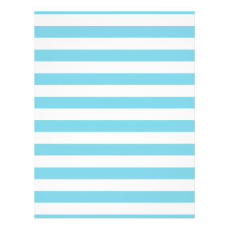 Blue and White Stripe Pattern Flyer
