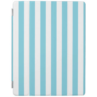 Blue and White Stripe Pattern iPad Cover