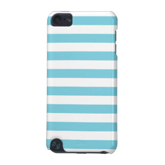 Blue and White Stripe Pattern iPod Touch 5G Cover