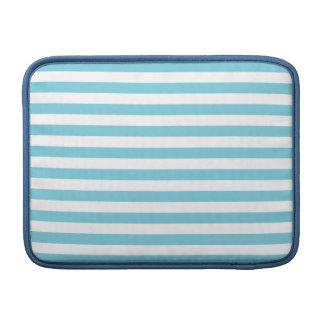Blue and White Stripe Pattern MacBook Sleeve