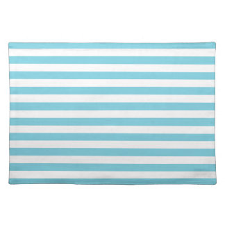 Blue and White Stripe Pattern Placemat