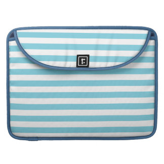 Blue and White Stripe Pattern Sleeve For MacBooks