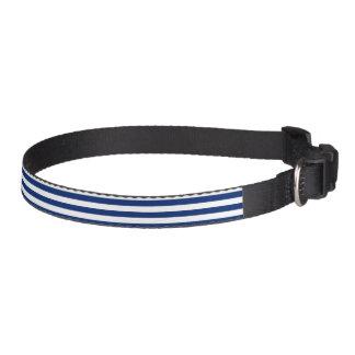 Blue and White Stripe Pet Collar