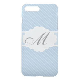 Blue and White Striped iPhone 8 Plus/7 Plus Case