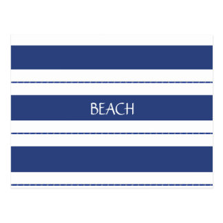 Blue and White Striped Postcard