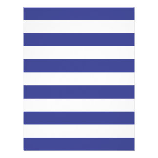 Blue and White Stripes 21.5 Cm X 28 Cm Flyer