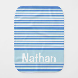 Blue and White stripes Baby Burp Cloth