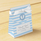 Blue and white stripes baby shower party favour favour box