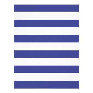 Blue and White Stripes Custom Flyer