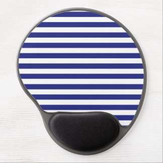 Blue and White Stripes Gel Mousepad