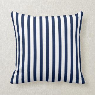 Blue and White Stripes, Nautical Cushion