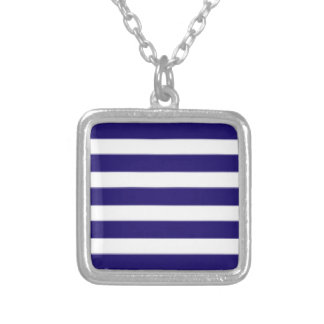 Blue And White Stripes Pendant