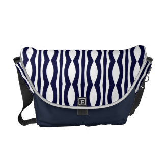 Blue And White Stripes Vintage Pattern Courier Bags