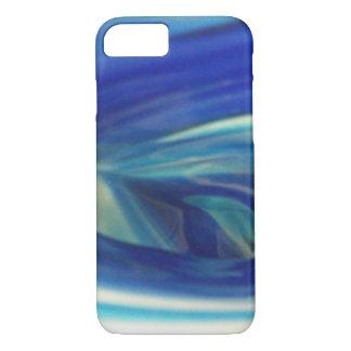 Blue and White Swirl Spiral Design iPhone 7 Case