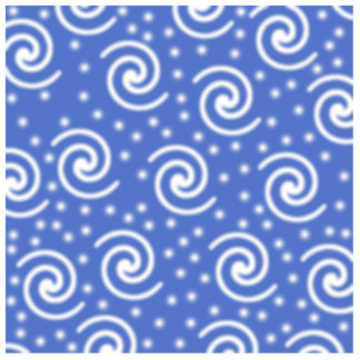 Blue and white swirls and dots pattern. photo sculpture magnet