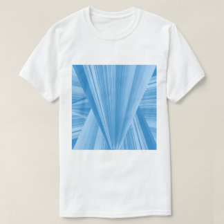 blue and white T-Shirt