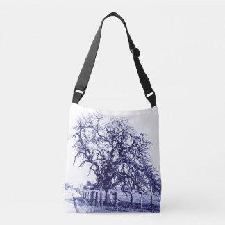 Blue and White Tangled Oak Totes Tote Bag