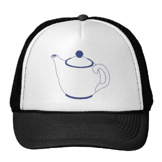 Blue and White Teapot Mesh Hat