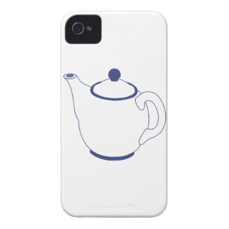 Blue and White Teapot iPhone 4 Case-Mate Cases