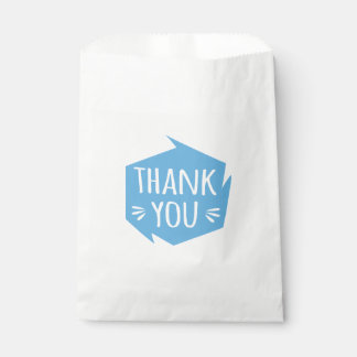 Blue And White Thank You Abstract Wedding Party Favour Bag