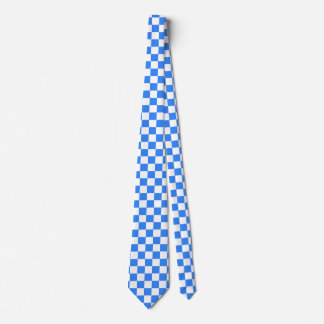 Blue and White Tie