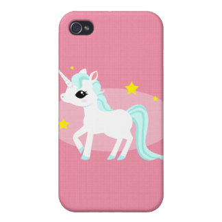 Blue and white Unicorn stars iPhone 4/4S Cases