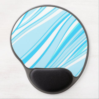 Blue and white wavy stripes pattern gel mouse pad