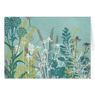 Blue and White Wildflower Field Cards