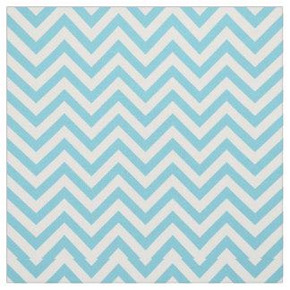 Blue and White Zigzag Stripes Chevron Pattern Fabric