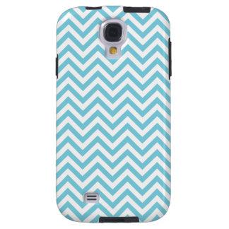 Blue and White Zigzag Stripes Chevron Pattern Galaxy S4 Case