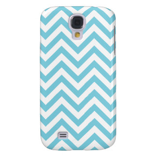 Blue and White Zigzag Stripes Chevron Pattern Galaxy S4 Covers
