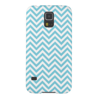 Blue and White Zigzag Stripes Chevron Pattern Galaxy S5 Cases