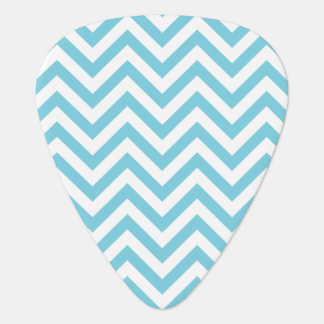 Blue and White Zigzag Stripes Chevron Pattern Guitar Pick