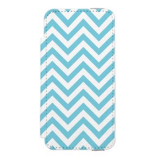 Blue and White Zigzag Stripes Chevron Pattern Incipio Watson™ iPhone 5 Wallet Case