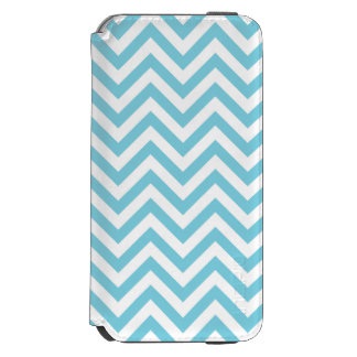 Blue and White Zigzag Stripes Chevron Pattern Incipio Watson™ iPhone 6 Wallet Case