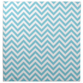 Blue and White Zigzag Stripes Chevron Pattern Napkin