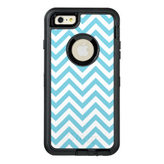 Blue and White Zigzag Stripes Chevron Pattern OtterBox iPhone 6/6s Plus Case